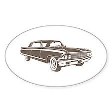 1962 Cadillac Coupe de Ville Oval Sticker (10 pk)