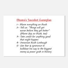 """Obama's Socialist Gameplan"" Postcards (Package of"