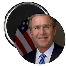 President George W. Bush Phot Magnet