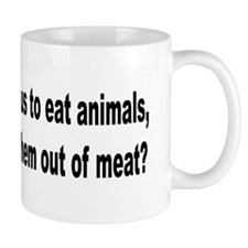 Humorous Anti-Peta Animal Meat Quote Mug