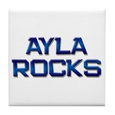 ayla rocks Tile Coaster