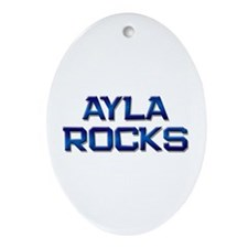 ayla rocks Oval Ornament