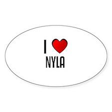 I LOVE NYLA Oval Decal