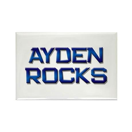 ayden rocks Rectangle Magnet