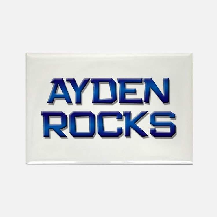 ayden rocks Rectangle Magnet