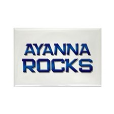 ayanna rocks Rectangle Magnet