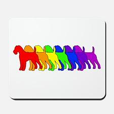 Rainbow Irish Terrier Mousepad