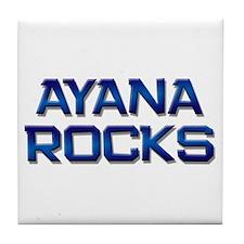 ayana rocks Tile Coaster