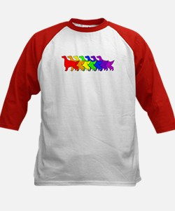 Rainbow Irish Setter Kids Baseball Jersey