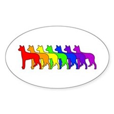 Rainbow Ibizan Oval Decal