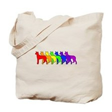 Rainbow Ibizan Tote Bag