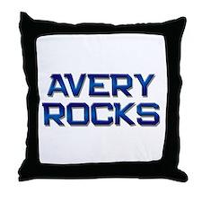 avery rocks Throw Pillow