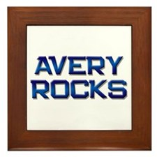 avery rocks Framed Tile