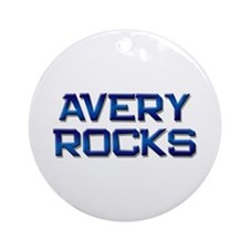 avery rocks Ornament (Round)