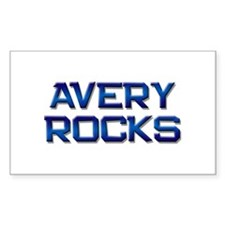 avery rocks Rectangle Decal