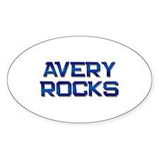 avery rocks Oval Bumper Stickers