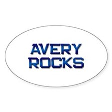 avery rocks Oval Decal