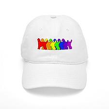Rainbow Afghan Hound Baseball Cap