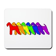 Rainbow Airedale Terrier Mousepad