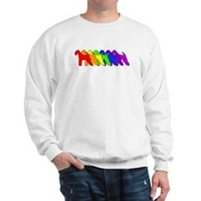 Rainbow Airedale Terrier Sweatshirt