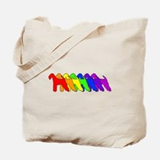 Rainbow Airedale Terrier Tote Bag