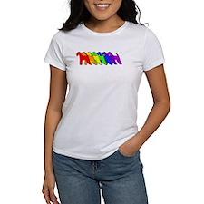 Rainbow Airedale Terrier Tee