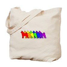 Rainbow Akita Tote Bag