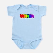 Rainbow American Eskimo Infant Bodysuit