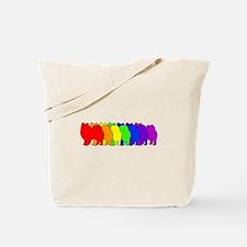 Rainbow American Eskimo Tote Bag