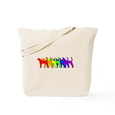 Rainbow American Foxhound Tote Bag