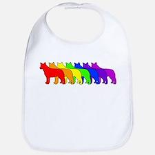 Rainbow Blue Heeler Bib