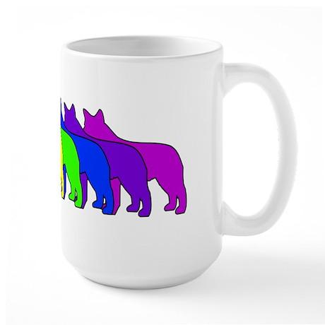 Rainbow Blue Heeler Large Mug