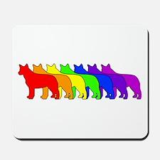 Rainbow Blue Heeler Mousepad