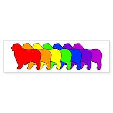Rainbow Australian Shepherd Bumper Bumper Sticker