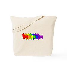Rainbow Australian Terrier Tote Bag
