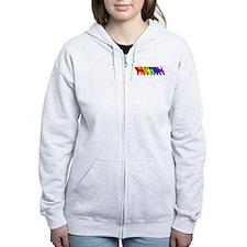Rainbow Beagle Zip Hoodie