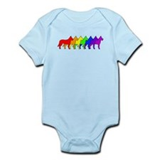 Rainbow Beauceron Infant Bodysuit