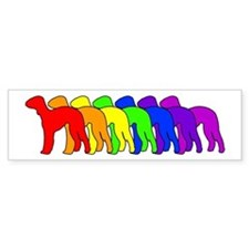 Rainbow Bedlington Terrier Bumper Bumper Sticker