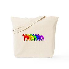 Rainbow Bedlington Terrier Tote Bag