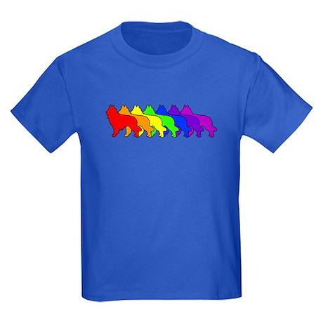 Rainbow Tervuren Kids Dark T-Shirt
