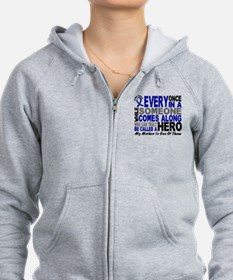 HERO Comes Along 1 Mother CC Zip Hoodie