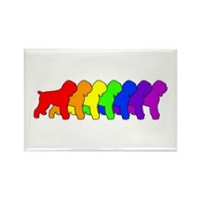 Rainbow Black Terrier Rectangle Magnet