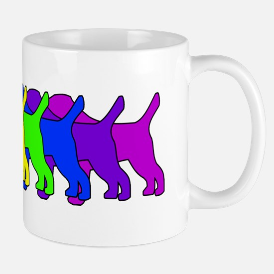 Rainbow Border Terrier Mug