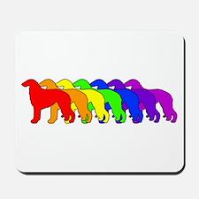 Rainbow Borzoi Mousepad