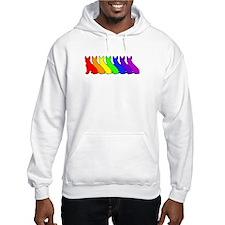 Rainbow Boston Terrier Hoodie