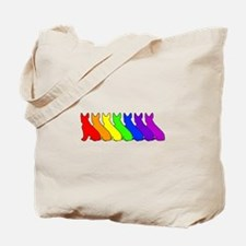 Rainbow Boston Terrier Tote Bag