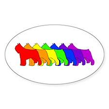 Rainbow Bouvier Oval Decal
