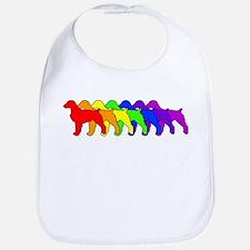 Rainbow Brittany Spaniel Bib