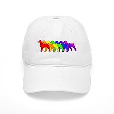 Rainbow Brittany Spaniel Baseball Cap