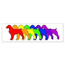 Rainbow Brittany Spaniel Bumper Bumper Sticker